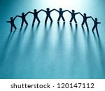 group of people holding hands.... | Shutterstock . vector #120147112