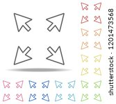 resize sign icon. elements of...
