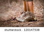 Mud race runner
