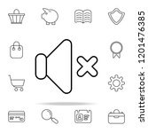 mute sign icon. web icons...