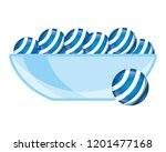 glass bowl with sweet candies... | Shutterstock .eps vector #1201477168