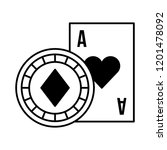 card ace chip casino game bet | Shutterstock .eps vector #1201478092
