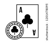 card ace chip casino game bet | Shutterstock .eps vector #1201478095