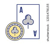 card ace chip casino game bet | Shutterstock .eps vector #1201478155