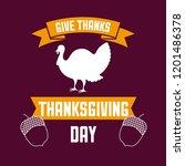 happy thanksgiving celebrate | Shutterstock .eps vector #1201486378