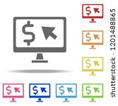 pay per click icon. elements of ... | Shutterstock . vector #1201488865