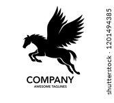 Pegasus Logo Vector. Stylized...