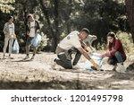 diligent volunteers. company of ... | Shutterstock . vector #1201495798