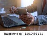 business man in suit   hand... | Shutterstock . vector #1201499182