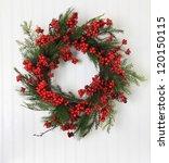 Christmas Wreath Of Berries An...