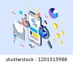 mobile marketing design   Shutterstock . vector #1201515988