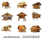 straw hut vector design | Shutterstock .eps vector #1201518325