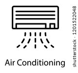 an air conditioning unit to... | Shutterstock .eps vector #1201522048