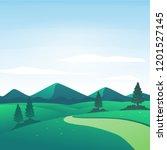 vector illustration of nature... | Shutterstock .eps vector #1201527145
