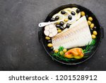 a dish of healthy cuisine with... | Shutterstock . vector #1201528912