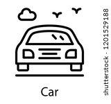a simple line icon of sedan car  | Shutterstock .eps vector #1201529188