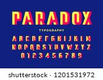 impossible shape font design ... | Shutterstock .eps vector #1201531972