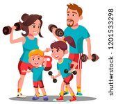 sports family  parents and... | Shutterstock . vector #1201533298