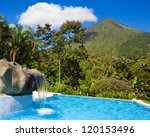 pool with a view of the green... | Shutterstock . vector #120153496