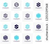 set of initial s monogram. s... | Shutterstock .eps vector #1201539568