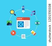 digital content  web...   Shutterstock .eps vector #1201550338