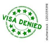 grunge green visa denied with... | Shutterstock .eps vector #1201559398