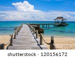 beautiful tropical beach in koh ... | Shutterstock . vector #120156172