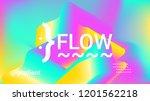 fluid shapes. liquid neon... | Shutterstock .eps vector #1201562218