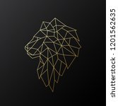 golden polygonal lion... | Shutterstock .eps vector #1201562635