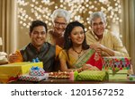 family sitting together and... | Shutterstock . vector #1201567252