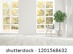 white empty room with autumn... | Shutterstock . vector #1201568632