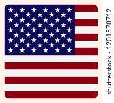 america square flag button ...   Shutterstock .eps vector #1201578712