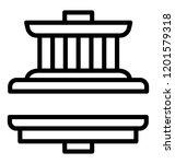hydraulic press machinery icon... | Shutterstock .eps vector #1201579318