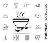 a bowl of soup icon. food icons ... | Shutterstock . vector #1201579822