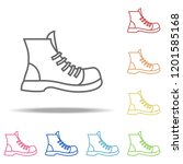 boot icon. elements of camping... | Shutterstock . vector #1201585168
