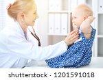 doctor and patient in hospital. ...   Shutterstock . vector #1201591018