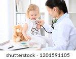 doctor and patient baby in...   Shutterstock . vector #1201591105