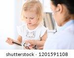 doctor and patient baby in...   Shutterstock . vector #1201591108