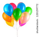 colorful balloons isolated on... | Shutterstock . vector #120159772