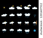 weather icon set. meteorology...   Shutterstock . vector #1201607512