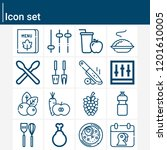 contains such icons as knife ... | Shutterstock .eps vector #1201610005