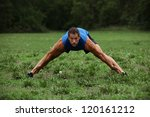 Fit man Stretching - stock photo