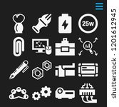 set of 16 tool filled icons...   Shutterstock .eps vector #1201612945