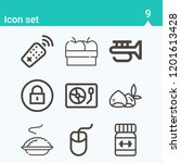 contains such icons as remote... | Shutterstock .eps vector #1201613428