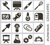 vector icons such as hardware ...   Shutterstock .eps vector #1201614592