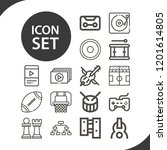 contains such icons as playoff  ... | Shutterstock .eps vector #1201614805