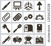 vector icons such as tambourine ...   Shutterstock .eps vector #1201615228