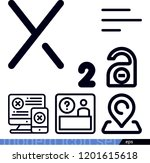 set of 6 signs outline icons... | Shutterstock .eps vector #1201615618