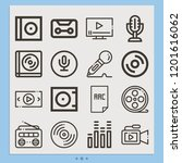 contains such icons as record ... | Shutterstock .eps vector #1201616062