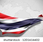 thailand  flag of silk and... | Shutterstock . vector #1201616602